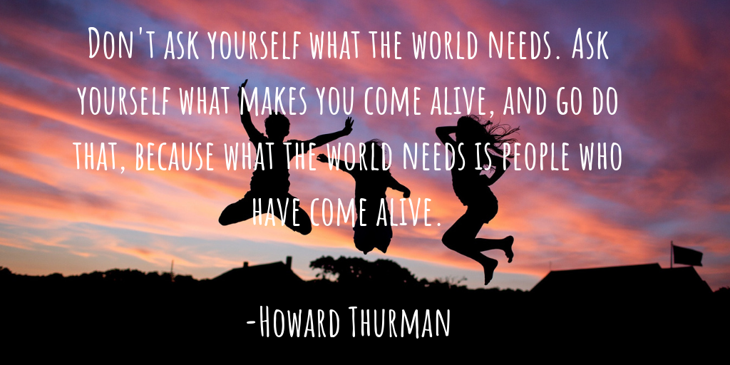 howard thurman passion quote