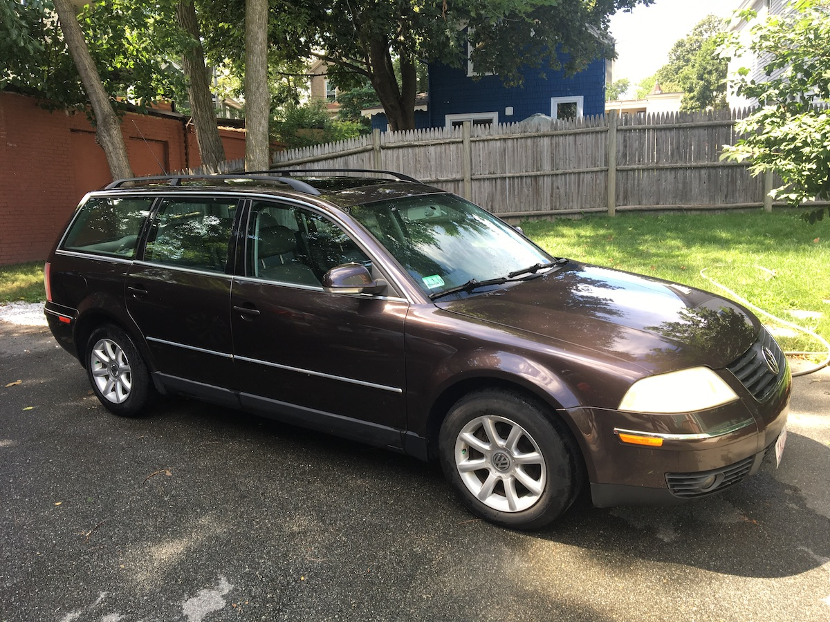 our first car vw passat wagon