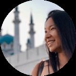 woman asian smile
