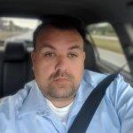 man driving seatbelt