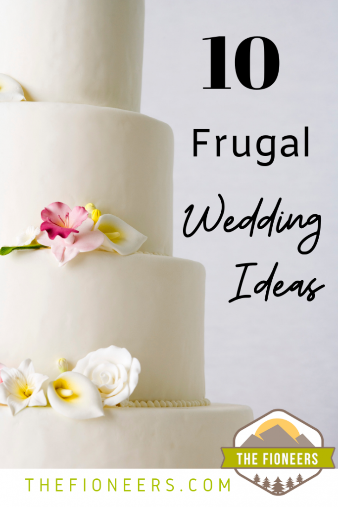 wedding cake flowers frugal