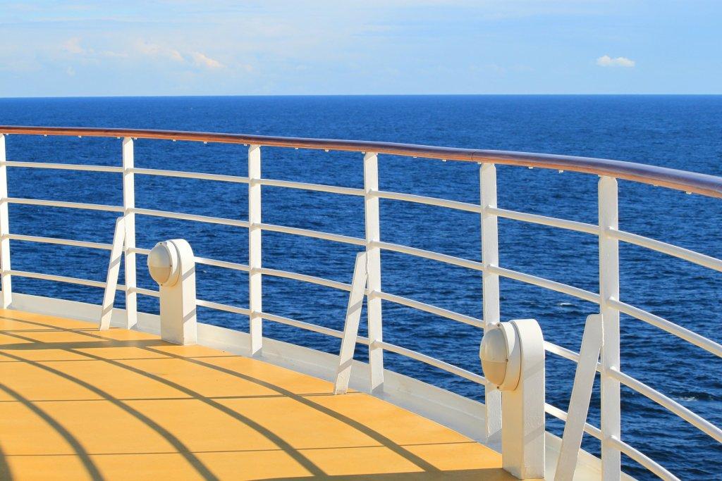 cruise ship deck sea