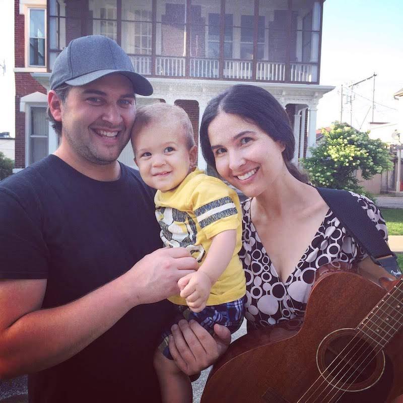 family mom dad guitar