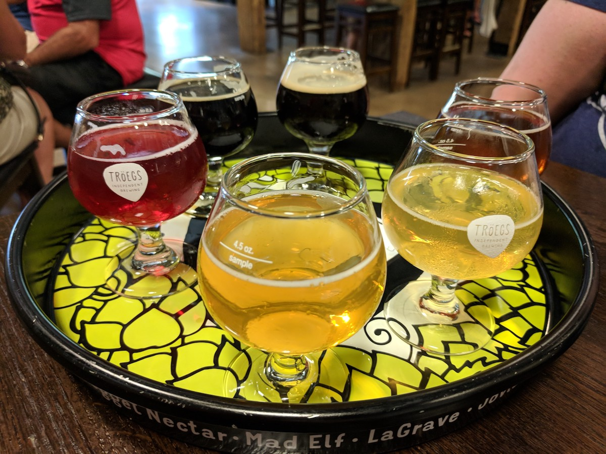 beer brewery flights