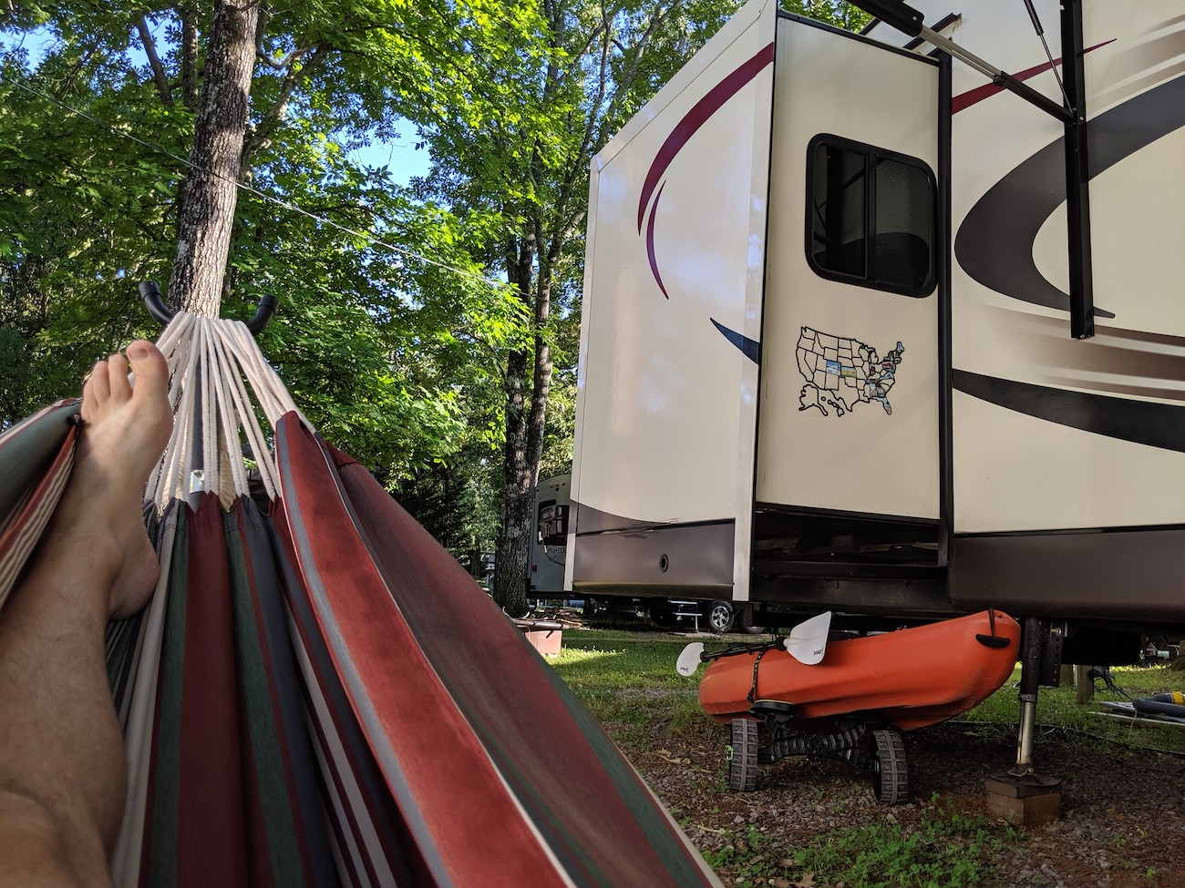 Hammock RV woods