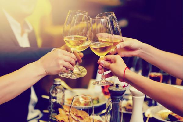 toast cheers wine