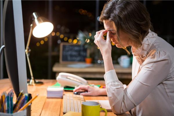 woman stress burnout