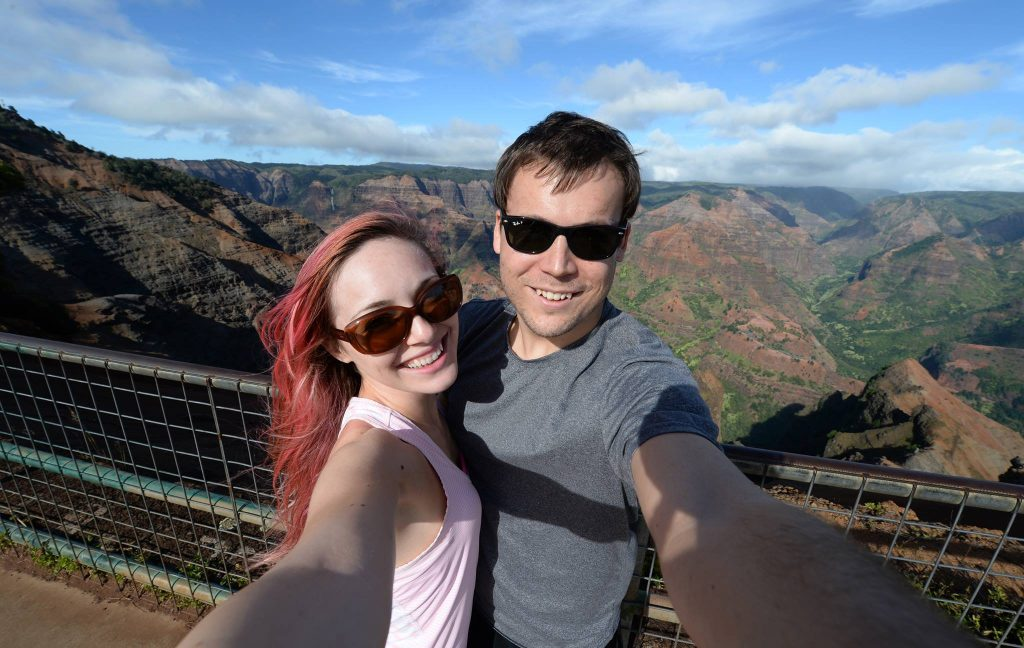 Waimea Canyon Hawaii couple