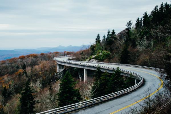 winding road travel