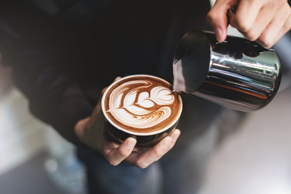 barista coffee shop latte