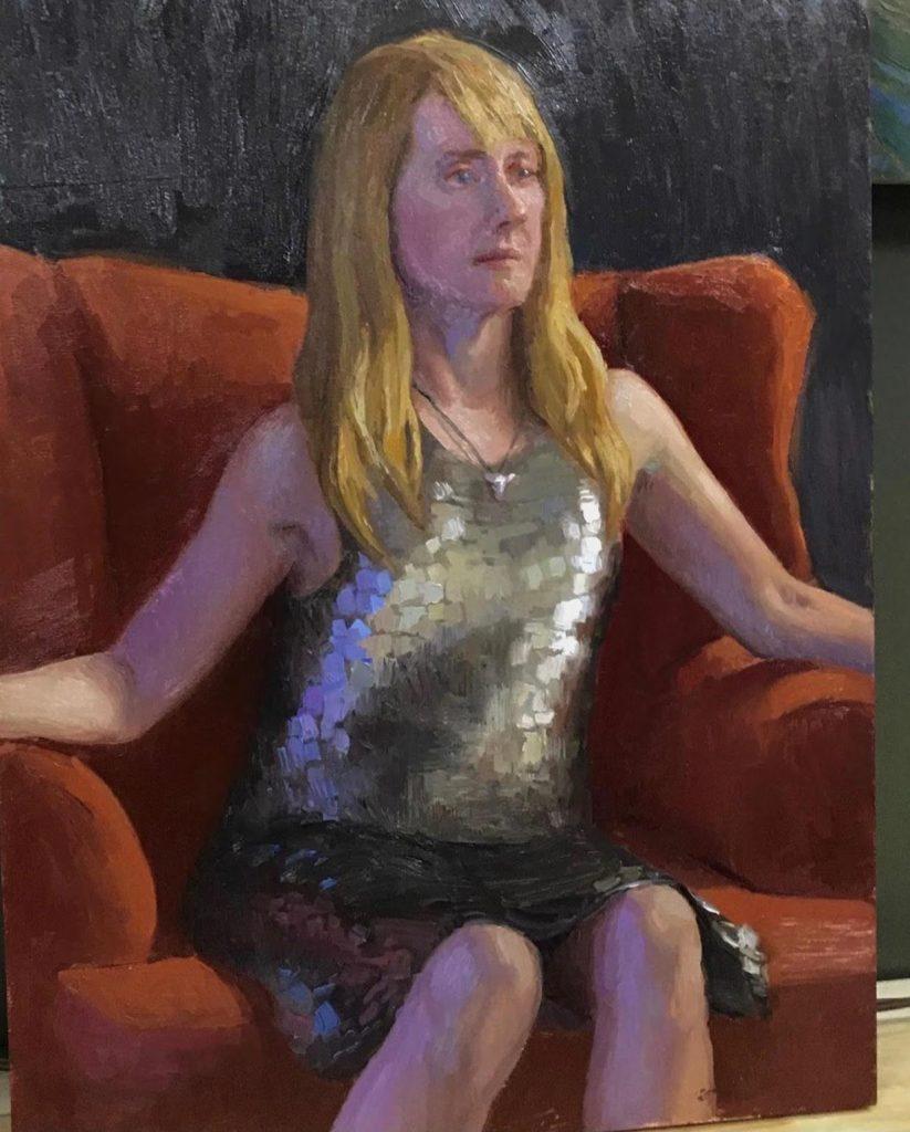 woman pose art