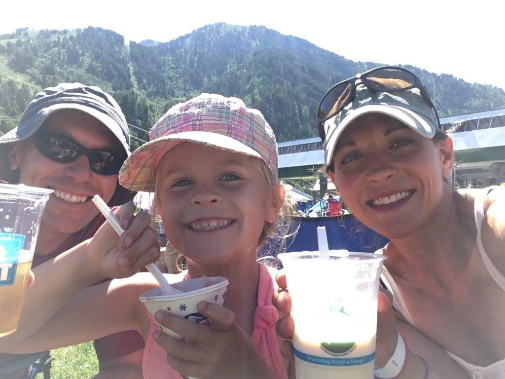 family daughter ice cream
