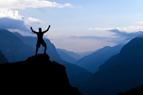 man hiking adventure