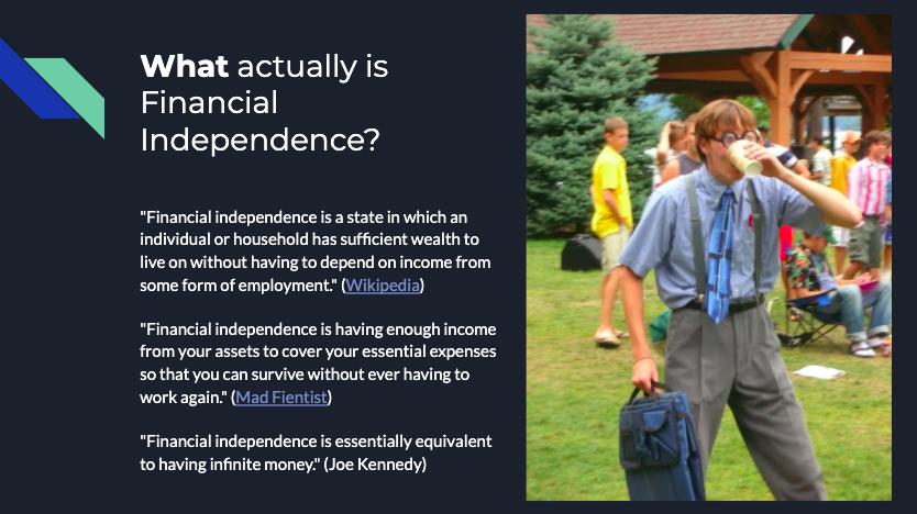 Slide financial independence