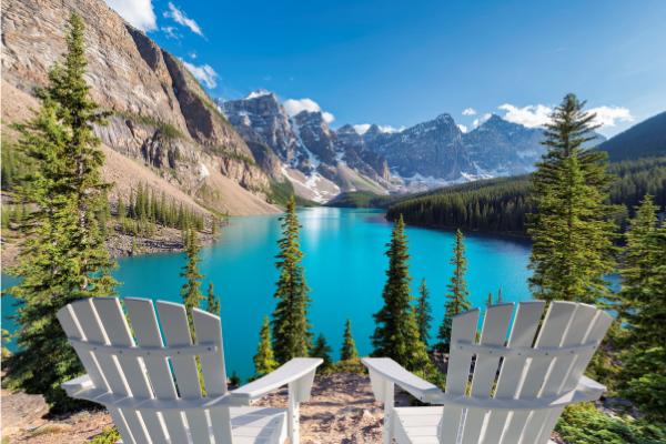 lake mountains relax beautiful