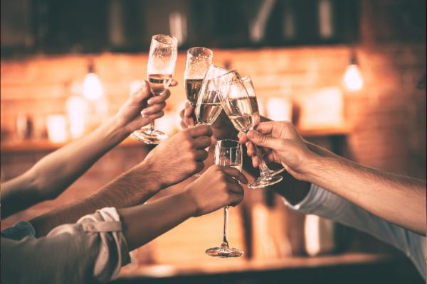 Cheers celebrate champagne
