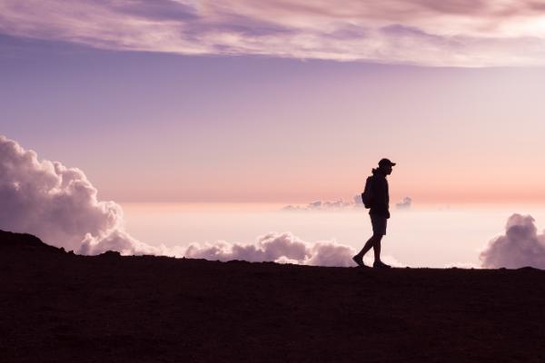hiking adventure sunrise