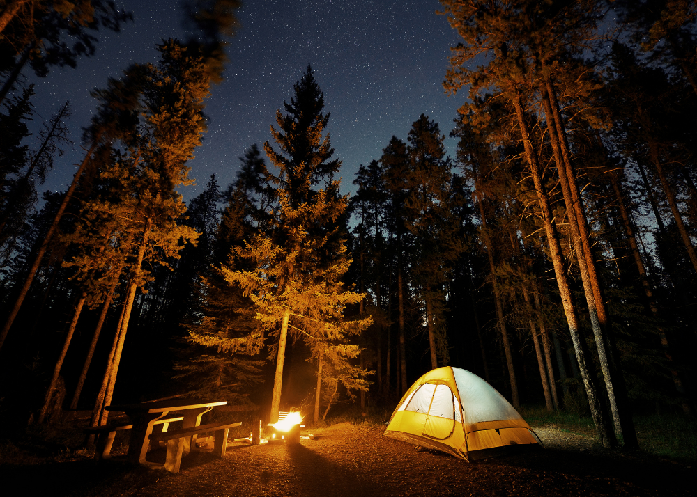 camping outdoors fun