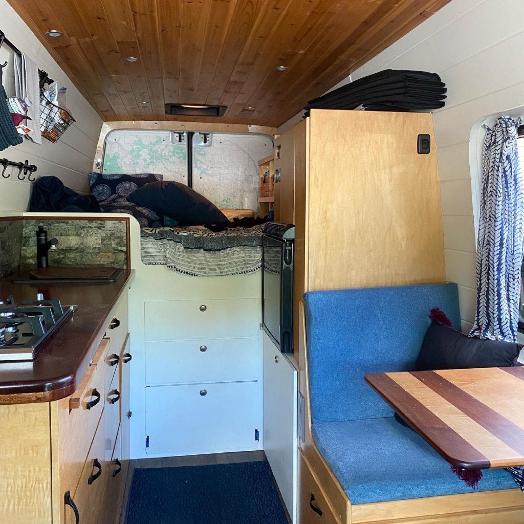 campervan bed storage