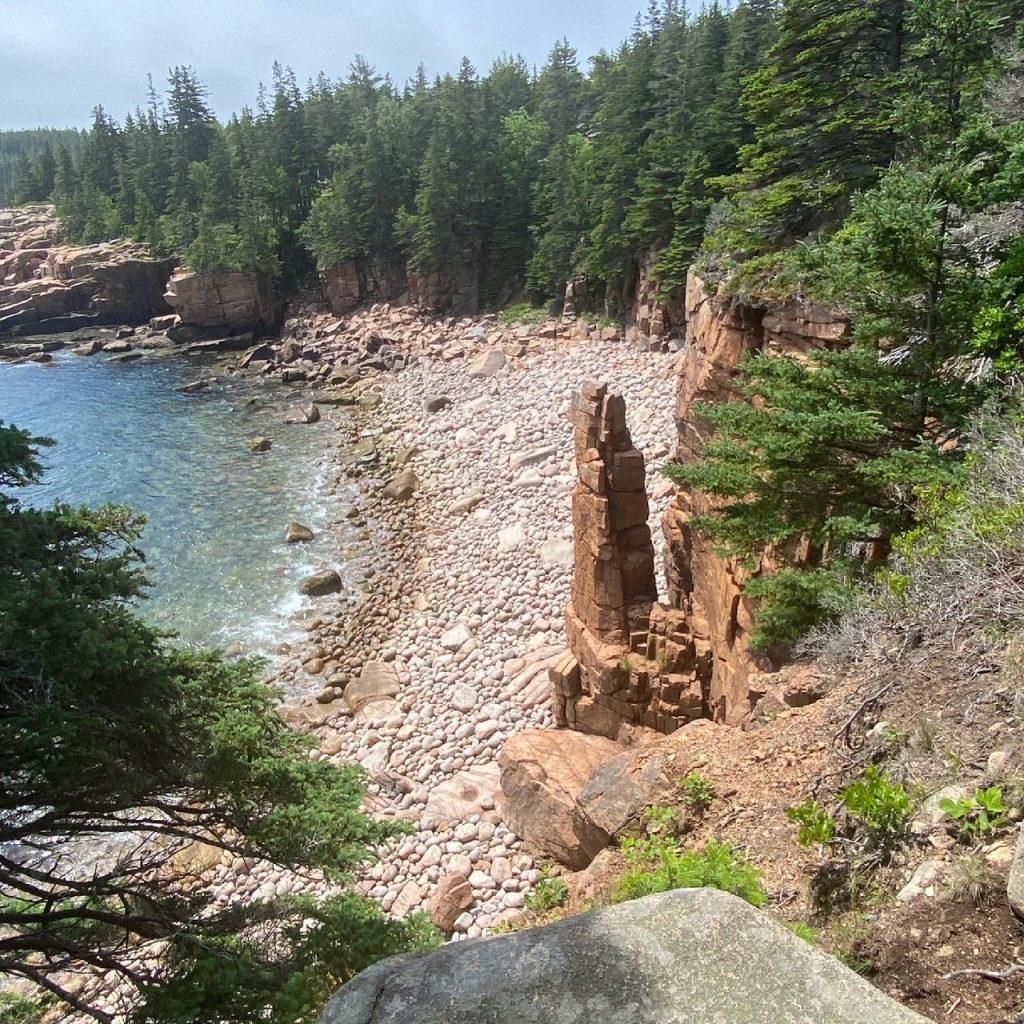 Acadia ocean rock