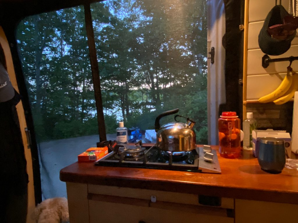 Stove counter campervan