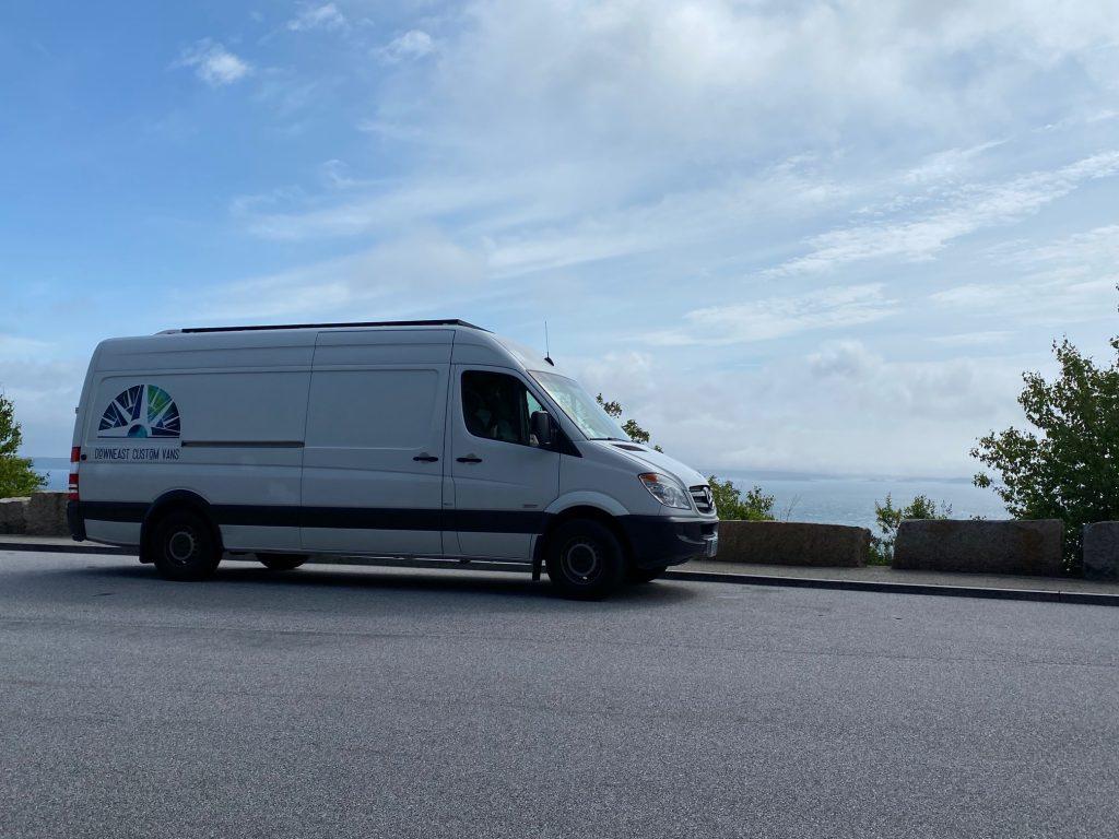 campervan van ocean view