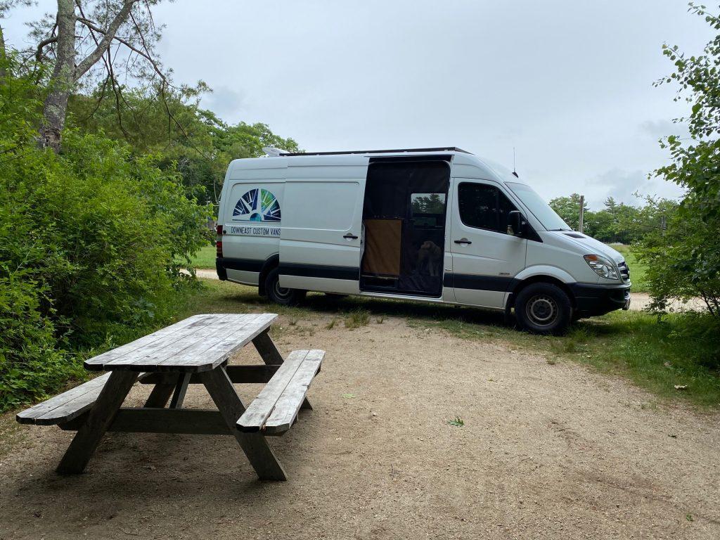 campervan camp outdoors