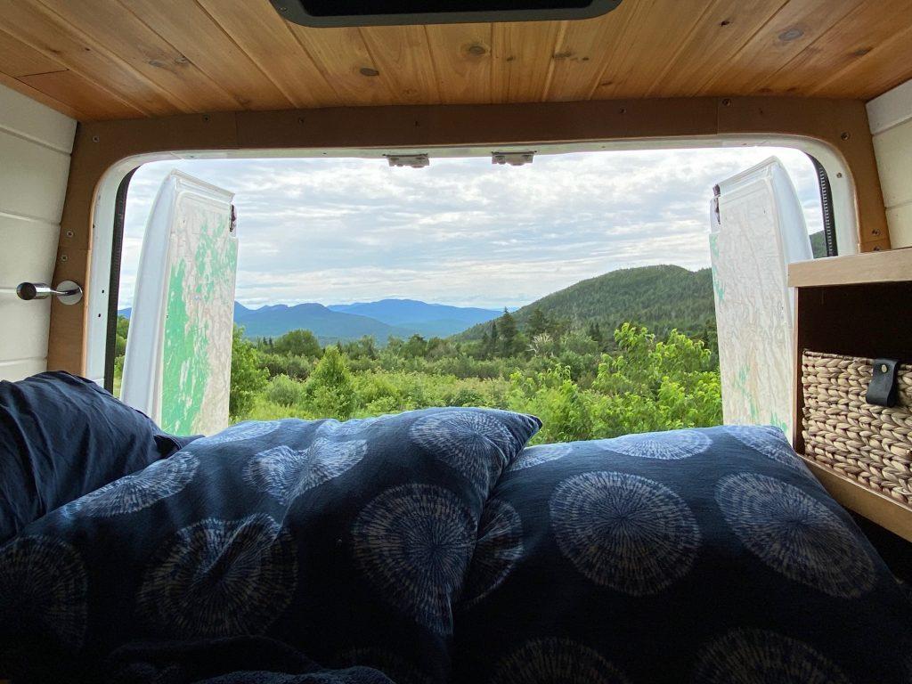 vanlife campervan scenic viewpoint