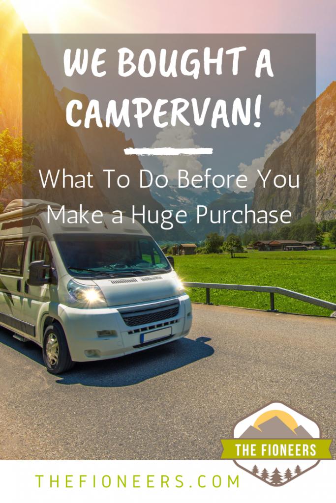 camper van purchase