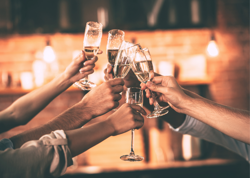 cheers raise a glass celebrate
