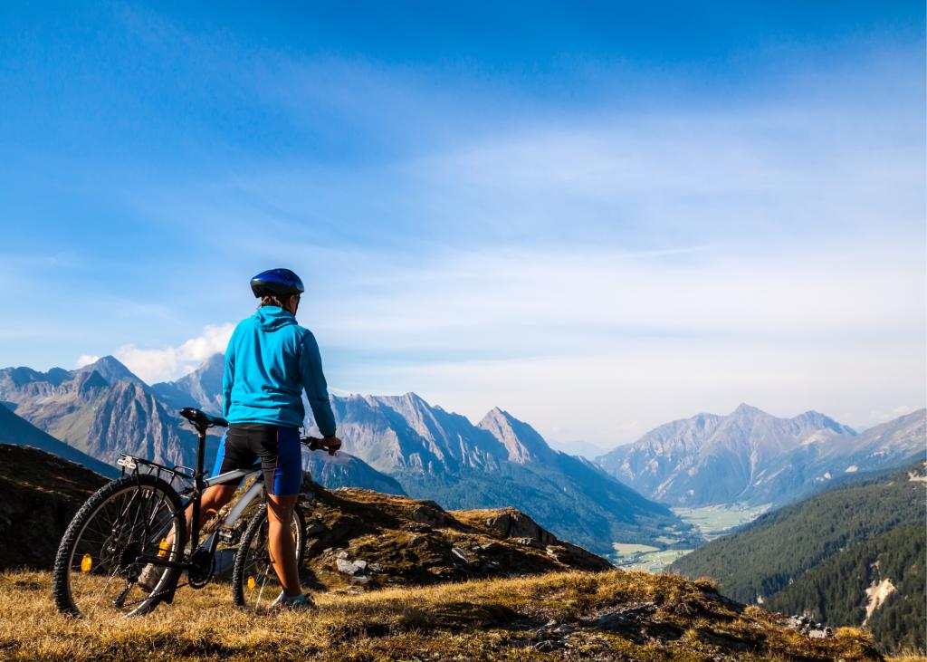 mountain biking landscape